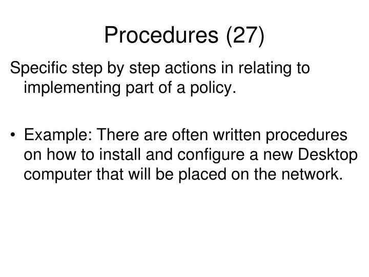 Procedures (27)
