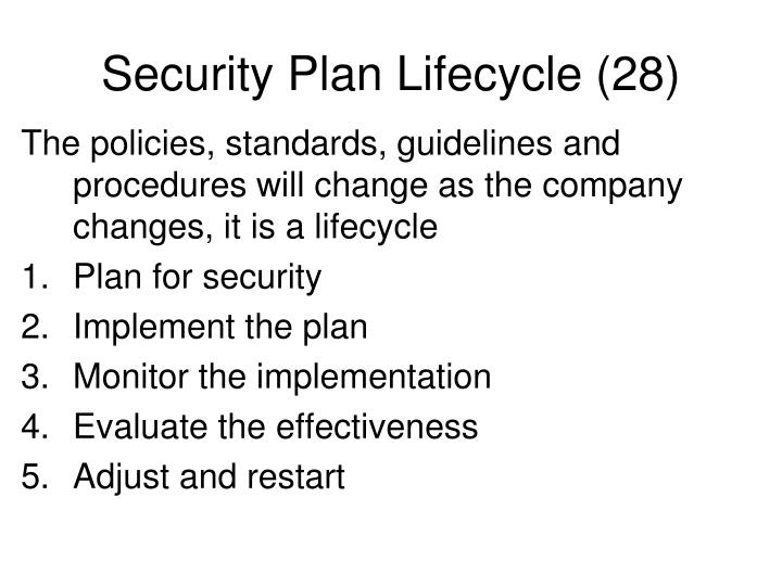 Security Plan Lifecycle (28)