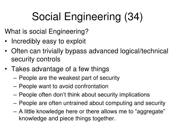 Social Engineering (34)