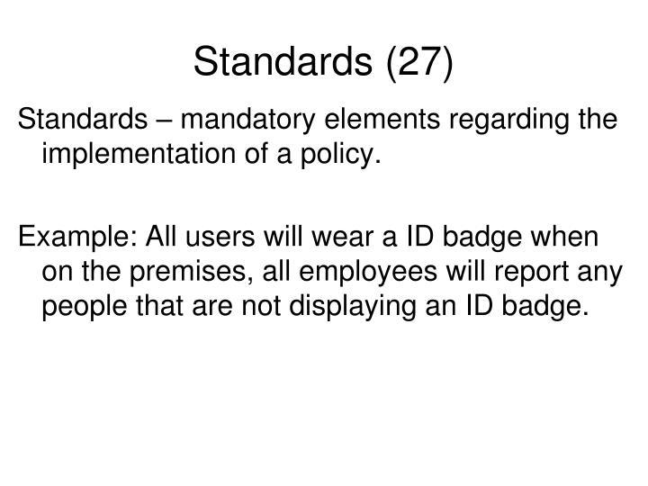 Standards (27)