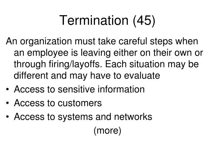 Termination (45)