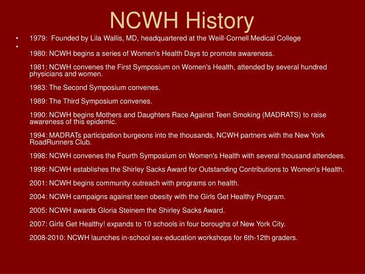 NCWH History