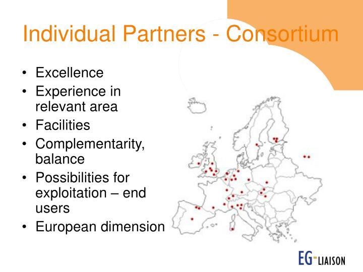 Individual Partners - Consortium