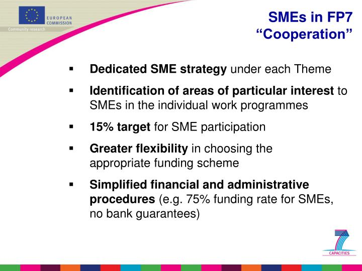 Dedicated SME strategy