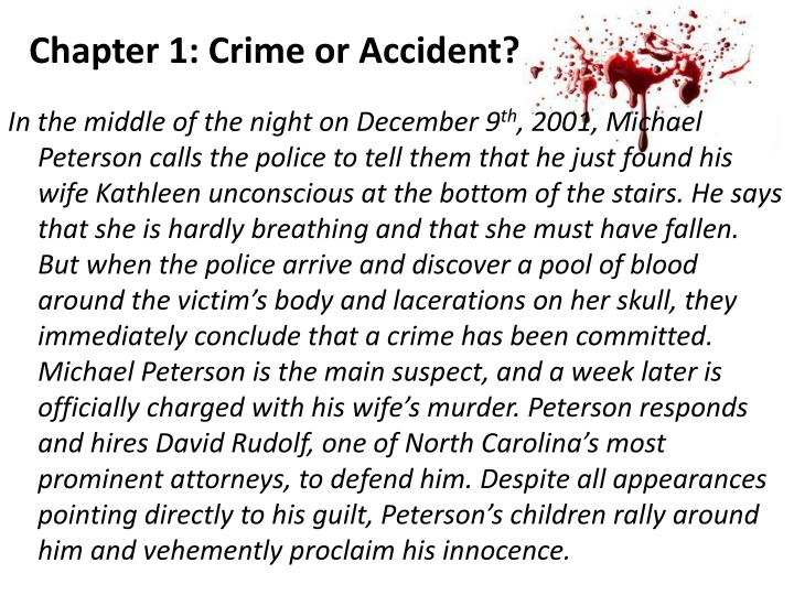 Chapter 1: Crime or Accident?
