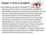 chapter 1 crime or accident