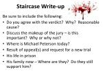 staircase write up