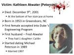 victim kathleen atwater peterson