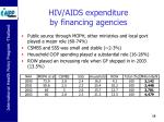 hiv aids expenditure by financing agencies