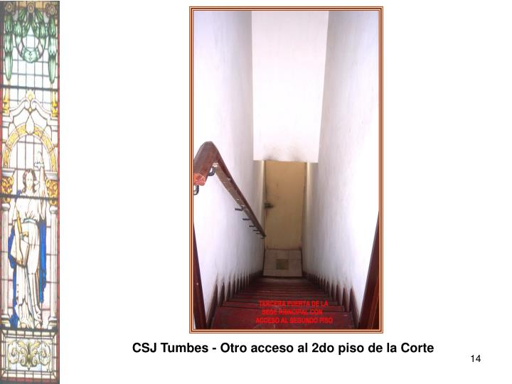 CSJ Tumbes - Otro acceso al 2do piso de la Corte