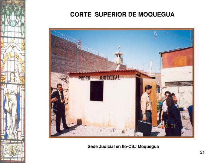 CORTE  SUPERIOR DE MOQUEGUA