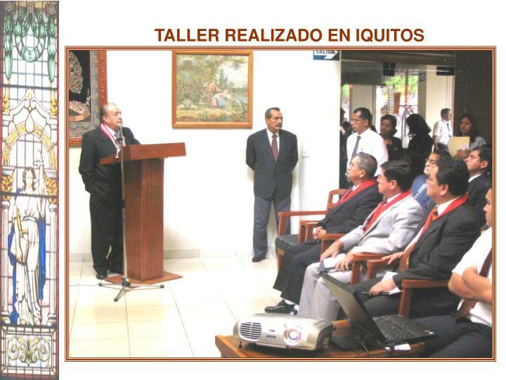 TALLER REALIZADO EN IQUITOS