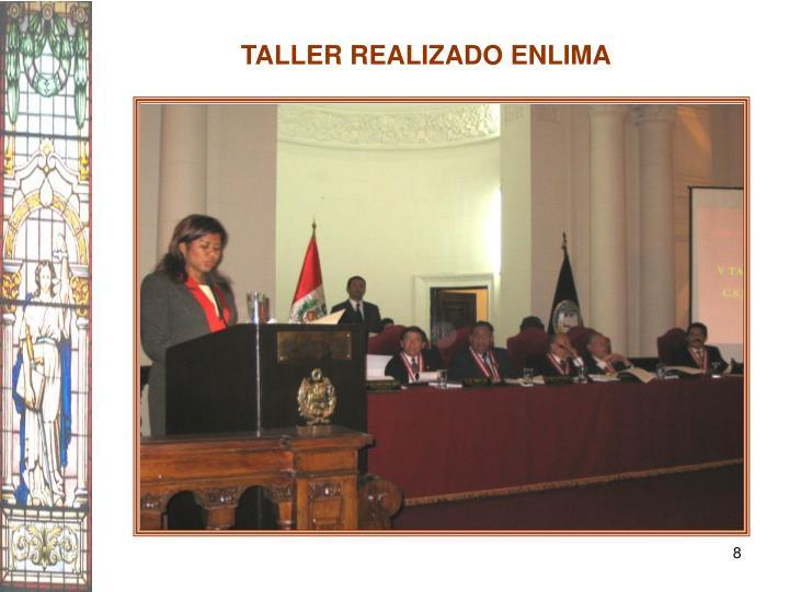 TALLER REALIZADO ENLIMA
