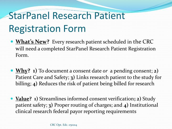 StarPanel Research Patient