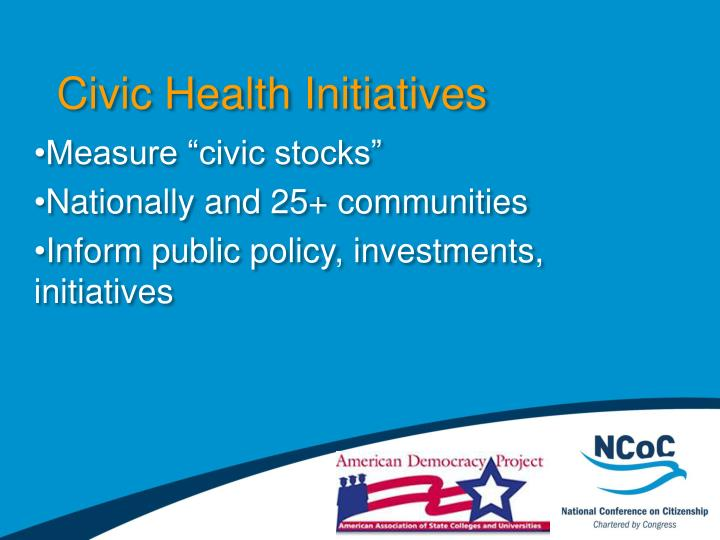 Civic Health Initiatives