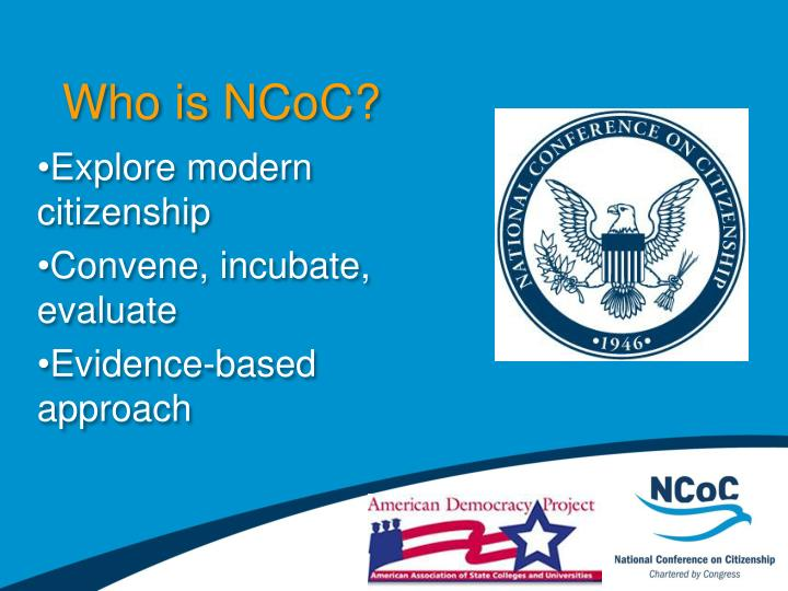 Who is NCoC?