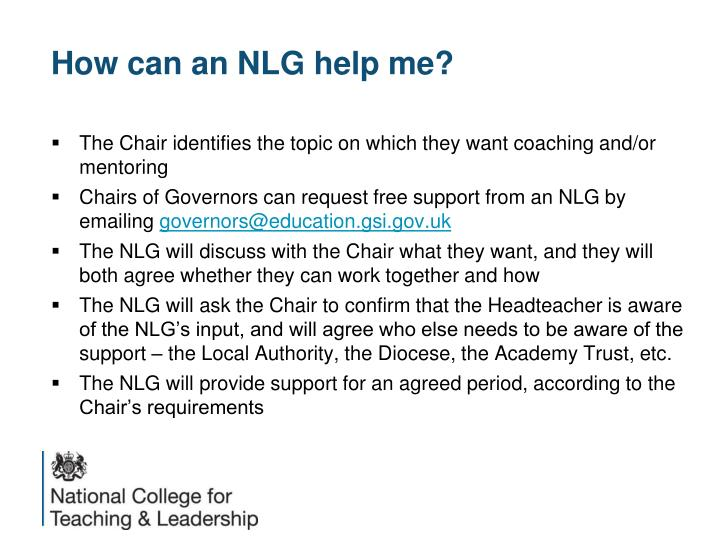 How can an NLG help me?