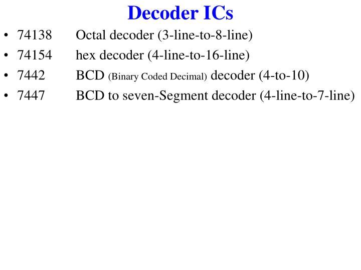 Decoder ICs