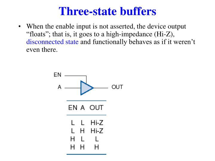 Three-state buffers