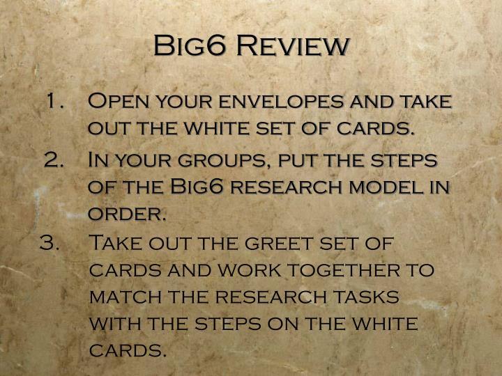 Big6 Review