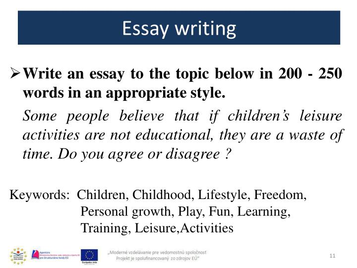 Essays about leisure activities