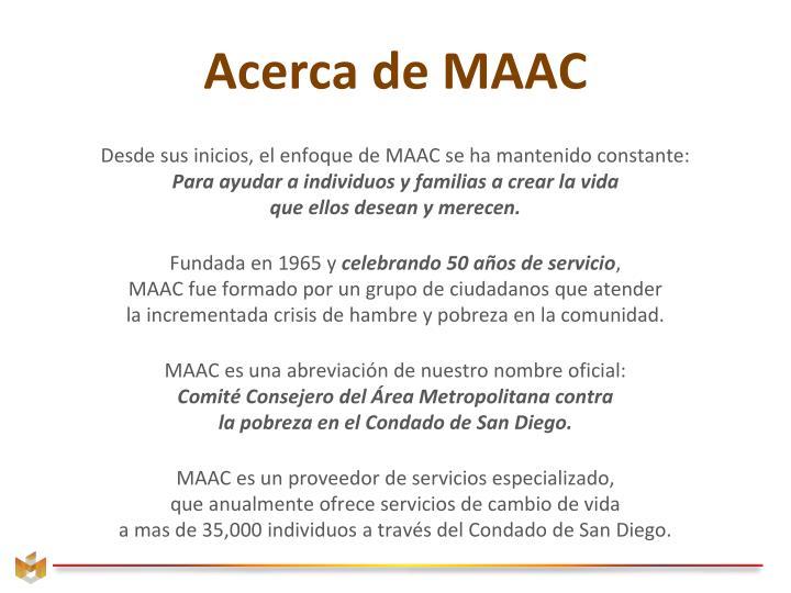 Acerca de MAAC