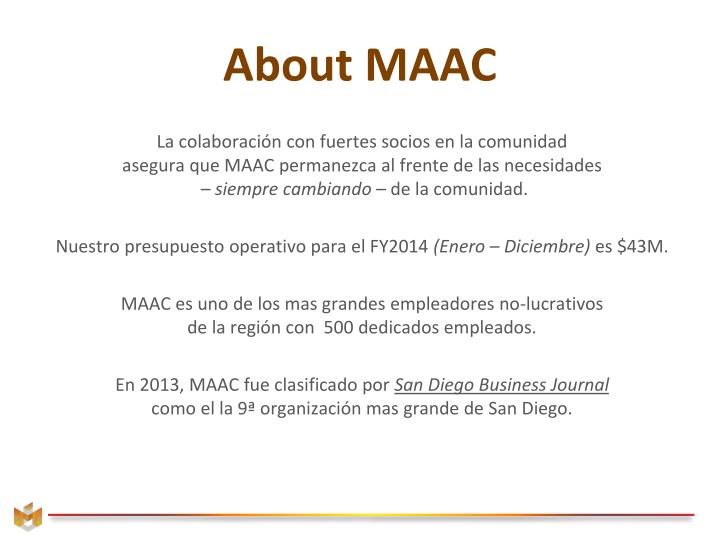 About MAAC