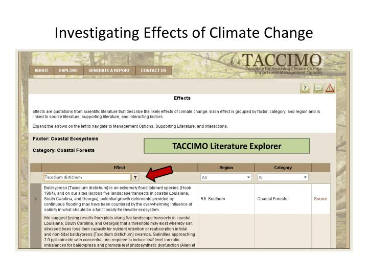 Investigating Effects of Climate Change