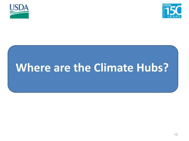 Where are the Climate Hubs?