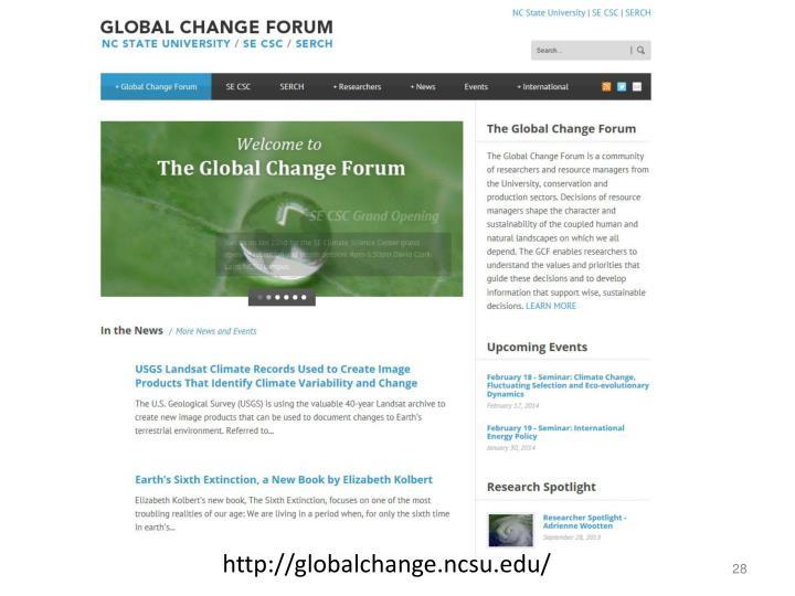 http://globalchange.ncsu.edu/