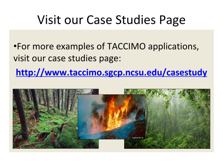 Visit our Case Studies Page