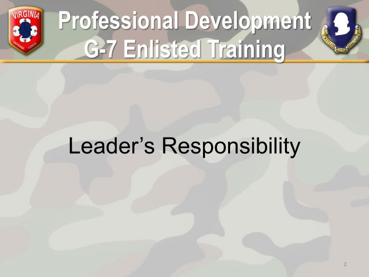 Professional development g 7 enlisted training1