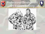 professional development g 7 enlisted training14