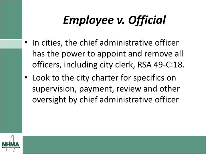 Employee v. Official