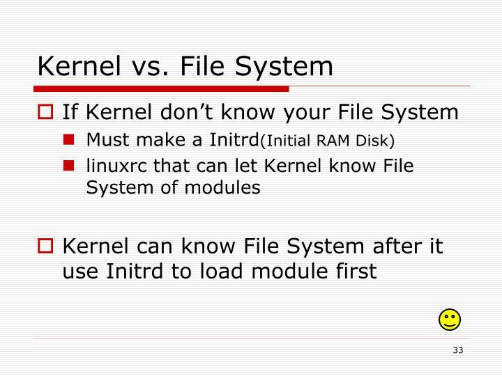 Kernel vs. File System