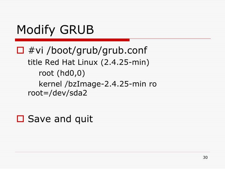 Modify GRUB