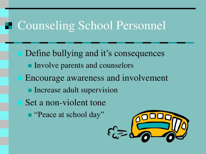 Counseling School Personnel