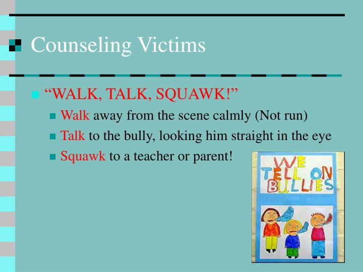 Counseling Victims