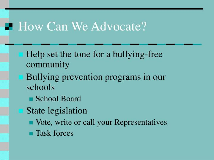 How Can We Advocate?
