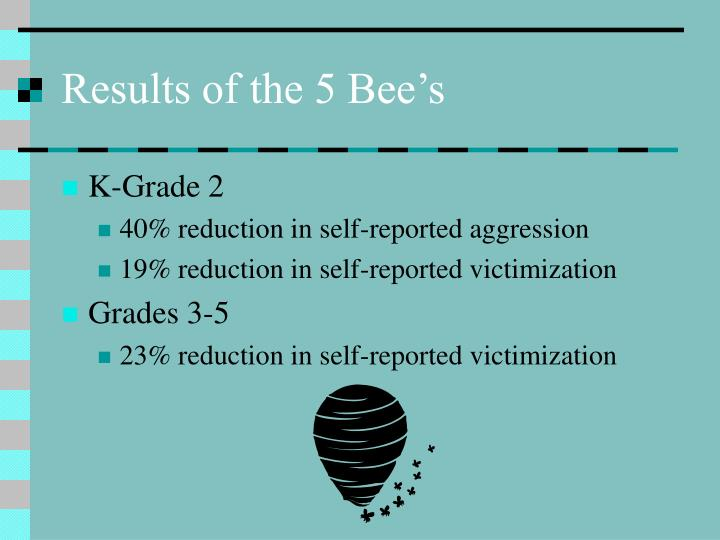 Results of the 5 Bee's