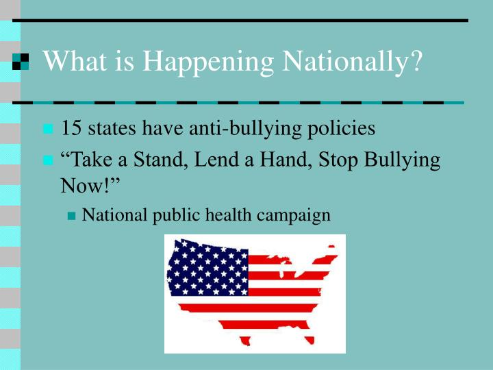 What is Happening Nationally?