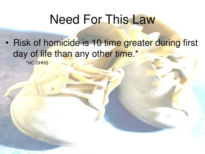Need For This Law