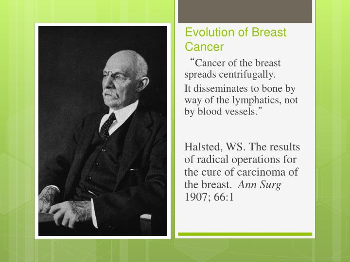 Evolution of Breast Cancer