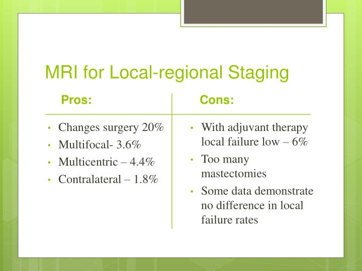 MRI for Local-regional Staging