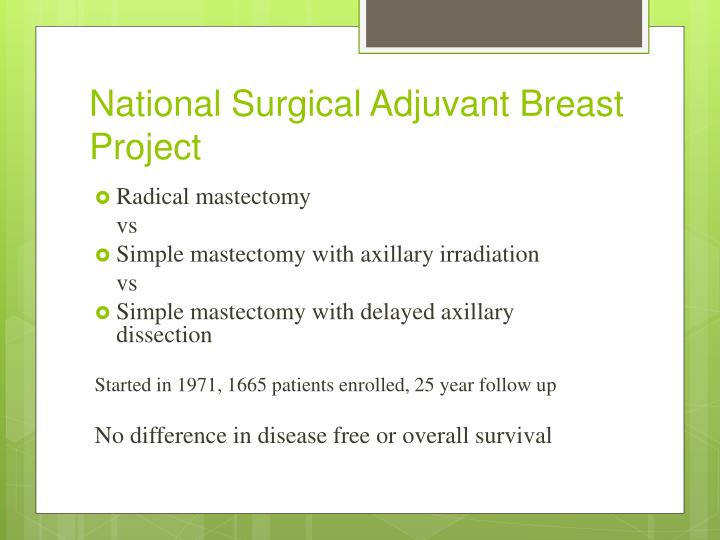 National Surgical Adjuvant Breast Project