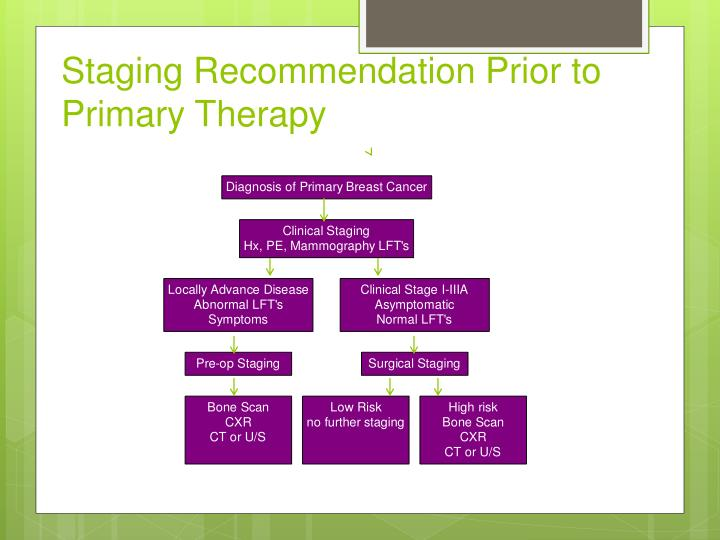 Staging Recommendation Prior to Primary Therapy