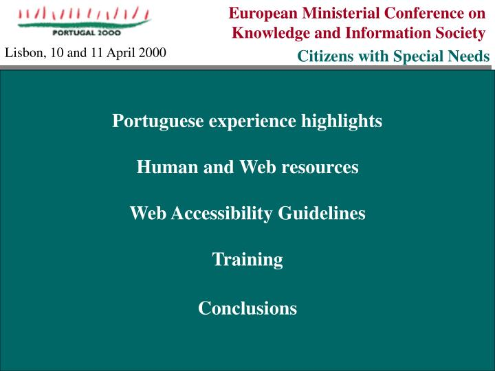 European Ministerial Conference on