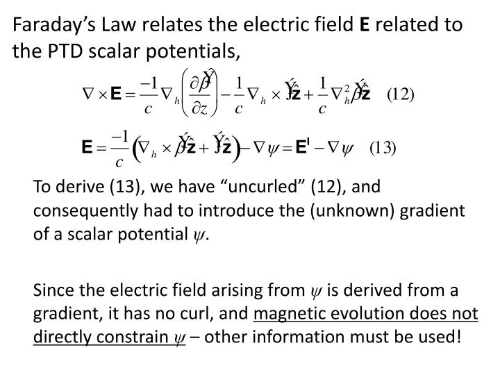 Faraday's Law relates the electric field