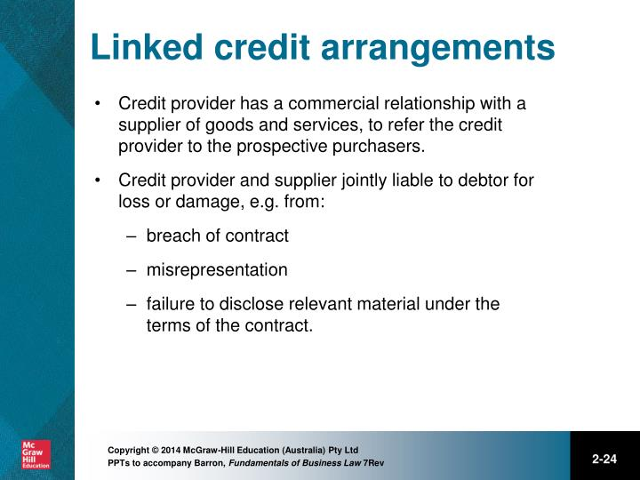 Linked credit arrangements