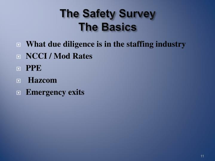 The Safety Survey